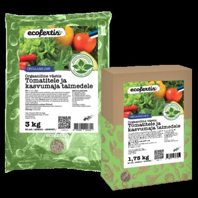 Orgaaniline väetis tomatitele ja kasvumaja taimedele