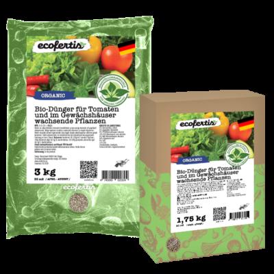 Bio-Dünger für Tomaten und im Gewächshäuser wachsende Pflanzen