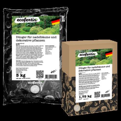 Dünger für nadelbäume und dekorative pflanzen