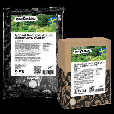 Gödsel för barrträd och dekorativa växter