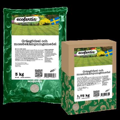 Gräsgödsel och mossbekämpningsmedel