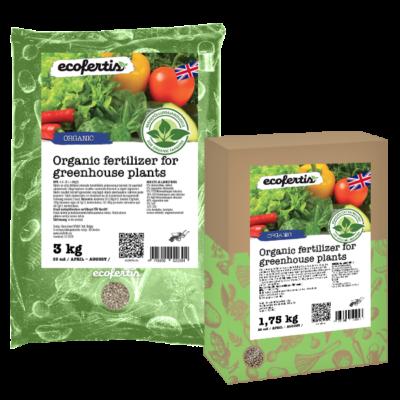 Organic fertilizer for greenhouse plants