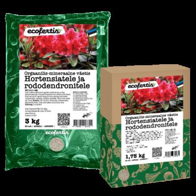 Orgaanilis – mineraalne väetis hortensiatele ja rododendronitele