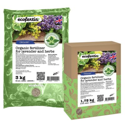 Organic fertilizer for lavender and herbs