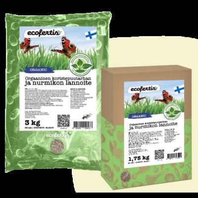 Orgaaninen koristepuutarhan ja nurmikon lannoite