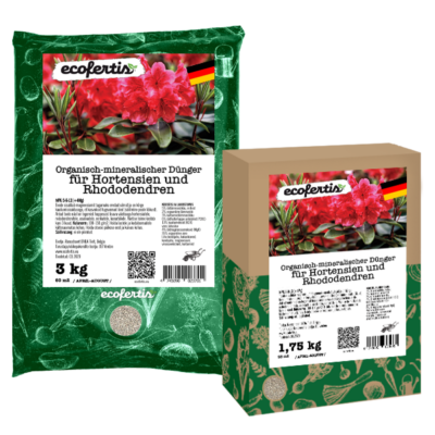Organisch-mineralischer Dünger für Hortensien und Rhododendren