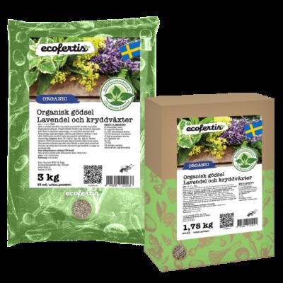 Organisk gödsel Lavendel och kryddväxter