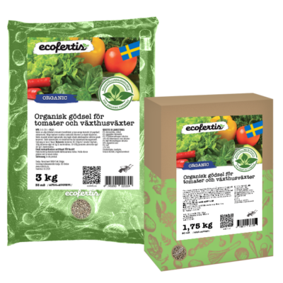 Organisk gödsel för tomater och växthusväxter