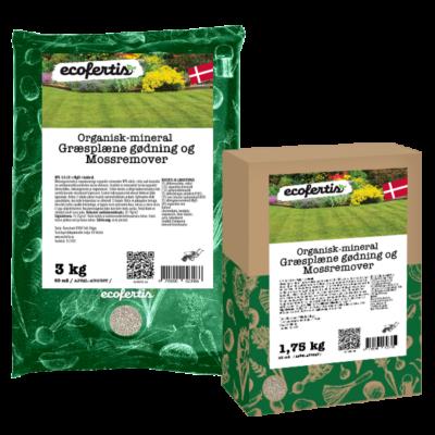 Organisk-mineral græsplæne gødning og mossremover