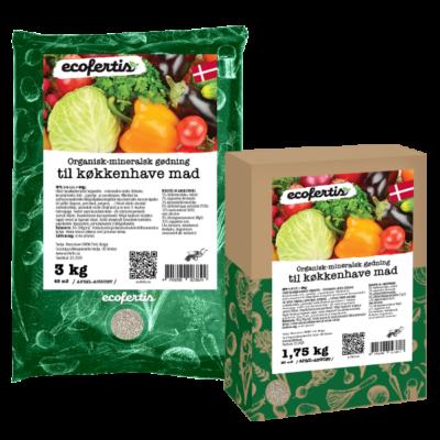 Organisk-mineralsk gødning til køkkenhave mad