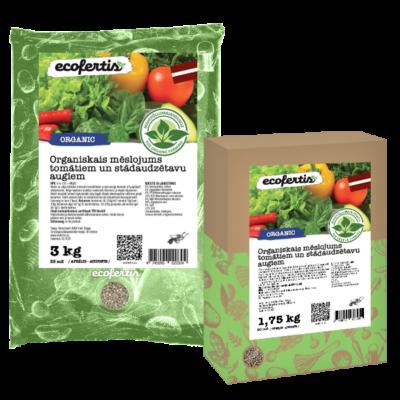 Organiskais mēslojums tomātiem un stādaudzētavu augiem
