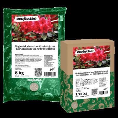 Organiskais-minerālmēslojums hortenzijām un rododendriem