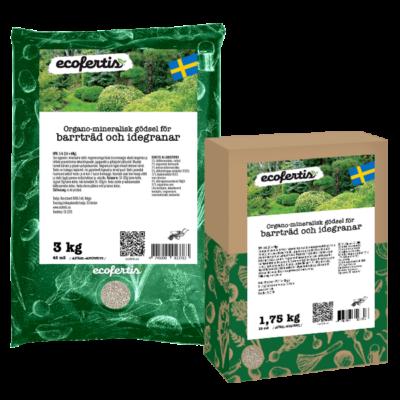 Organo-mineralisk gödsel för barrträd och idegranar