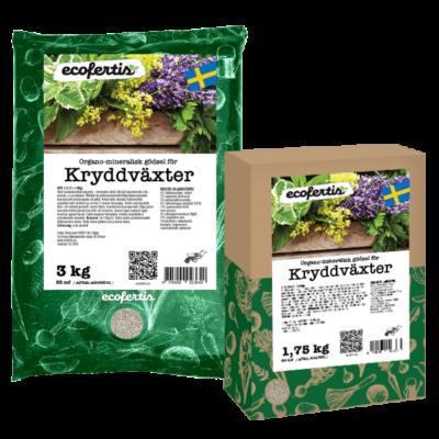 Organo-mineralisk gödsel för kryddväxter