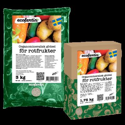 Organomineralisk gödsel för rotfrukter