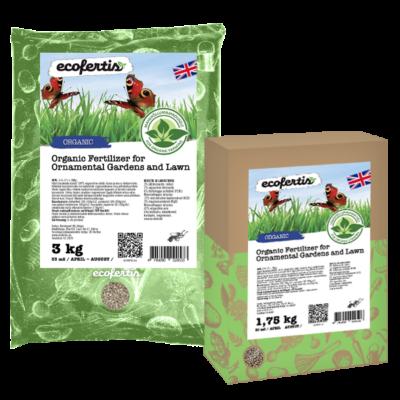 Organic Fertilizer for Ornamental Gardens and Lawn