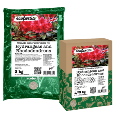Organic-mineral fertiliser for Hydrangeas and Rhododendrons