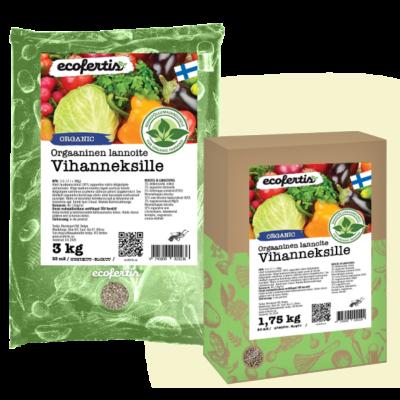 Orgaaninen lannoite vihanneksille