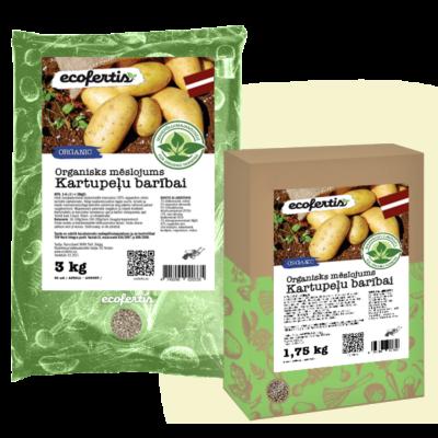 Organisks mēslojums kartupeļu barībai